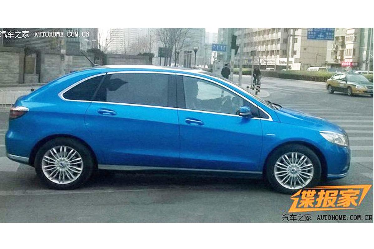 Elektroauto E Denza Wird Auf Der Automesse Auto China 2014