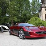 Im Vordergrund sieht man den Rimac Concept_One. Bildquelle: Rimac Automotive