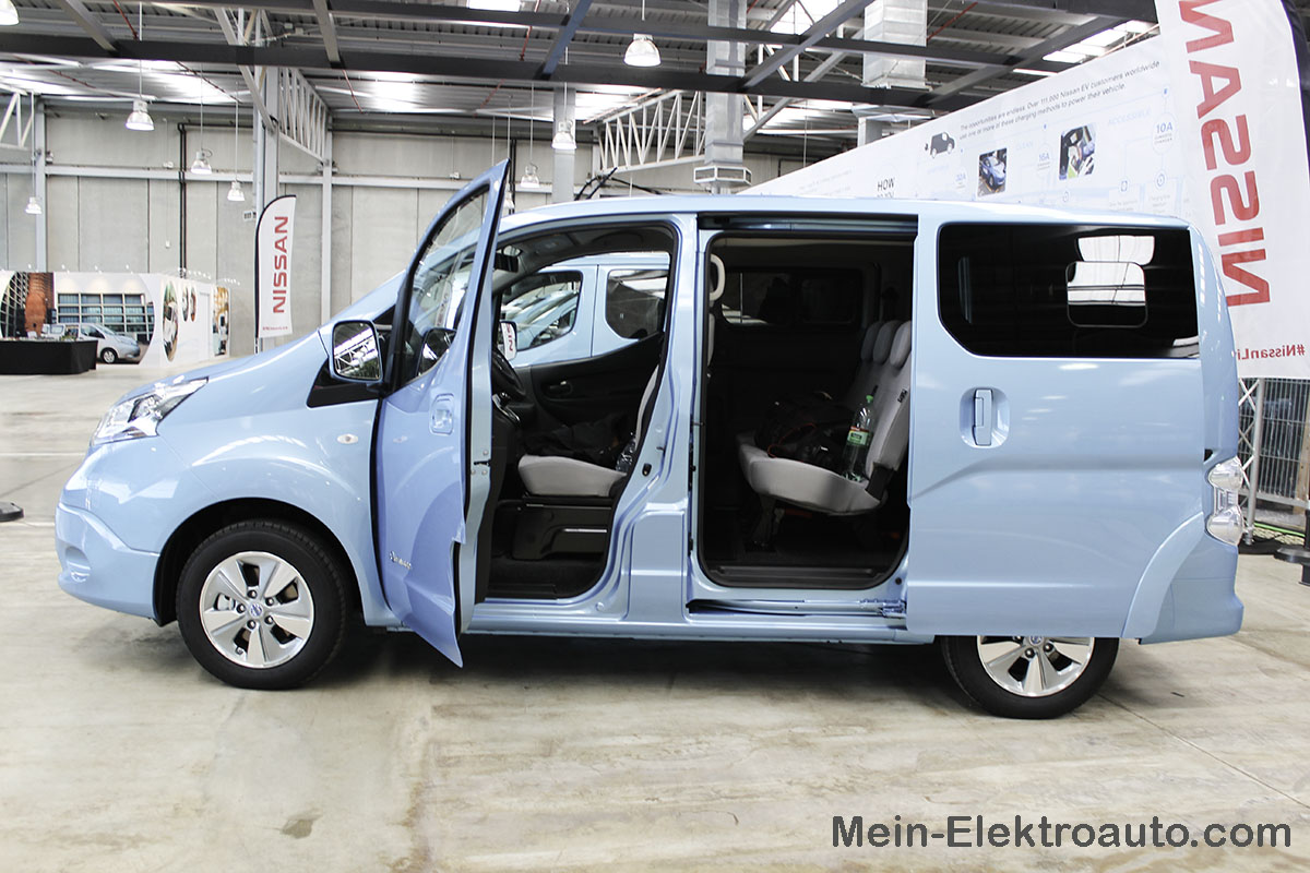 test des elektroauto nissan e nv200. Black Bedroom Furniture Sets. Home Design Ideas