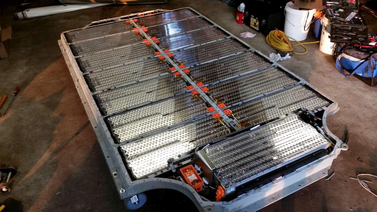 Seltener Einblick In Die Batterieeinheit Des Elektroauto