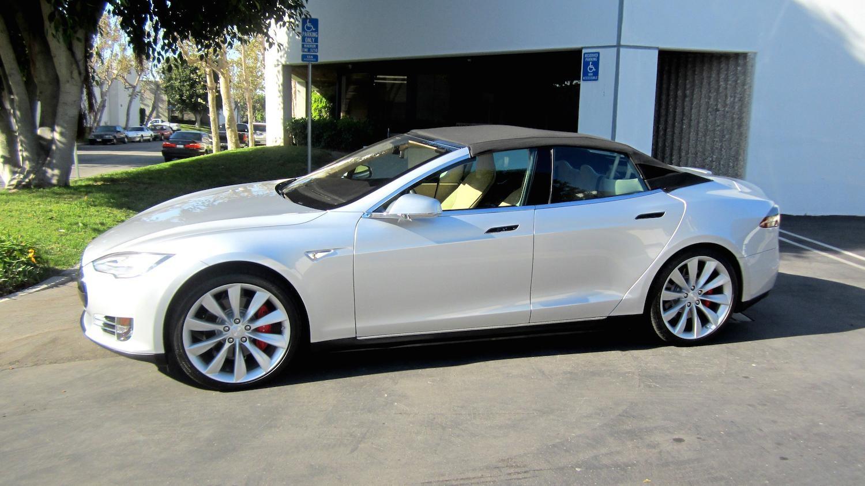 So Sieht Das Elektroauto Tesla Model S Als Cabrio Aus