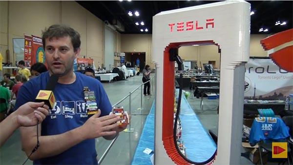 Tesla Motors ist auch auf der Brickworld ein Thema