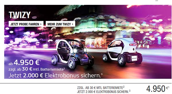 das elektroauto renault twizy gibt es dank elektrobonus euro g nstiger mein elektroauto. Black Bedroom Furniture Sets. Home Design Ideas