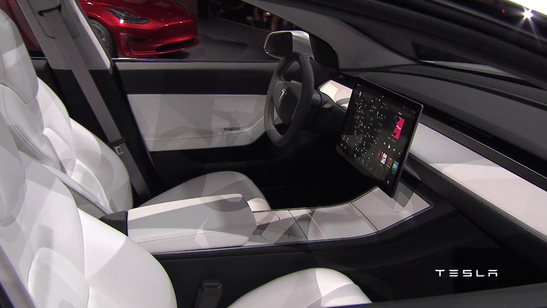 Tesla Model 3 Innenraum Mein Elektroauto