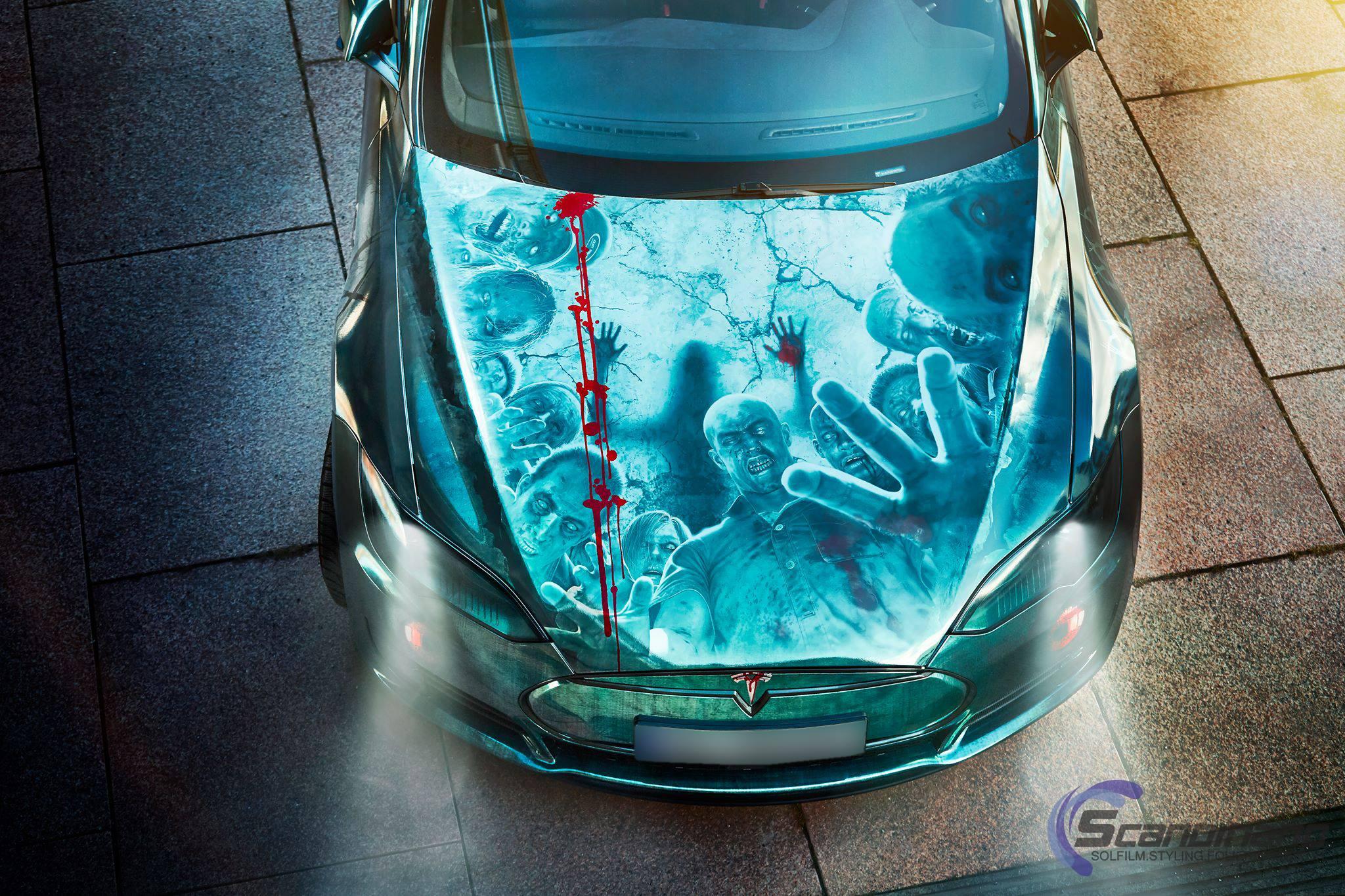 Elektroauto Tesla Model S Zombie motorhaube - Mein Elektroauto