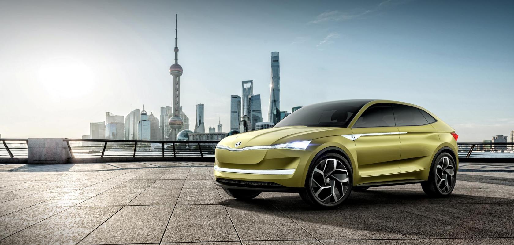 Im Jahr 2020 kommt das Elektroauto Skoda Vision E auf den ...