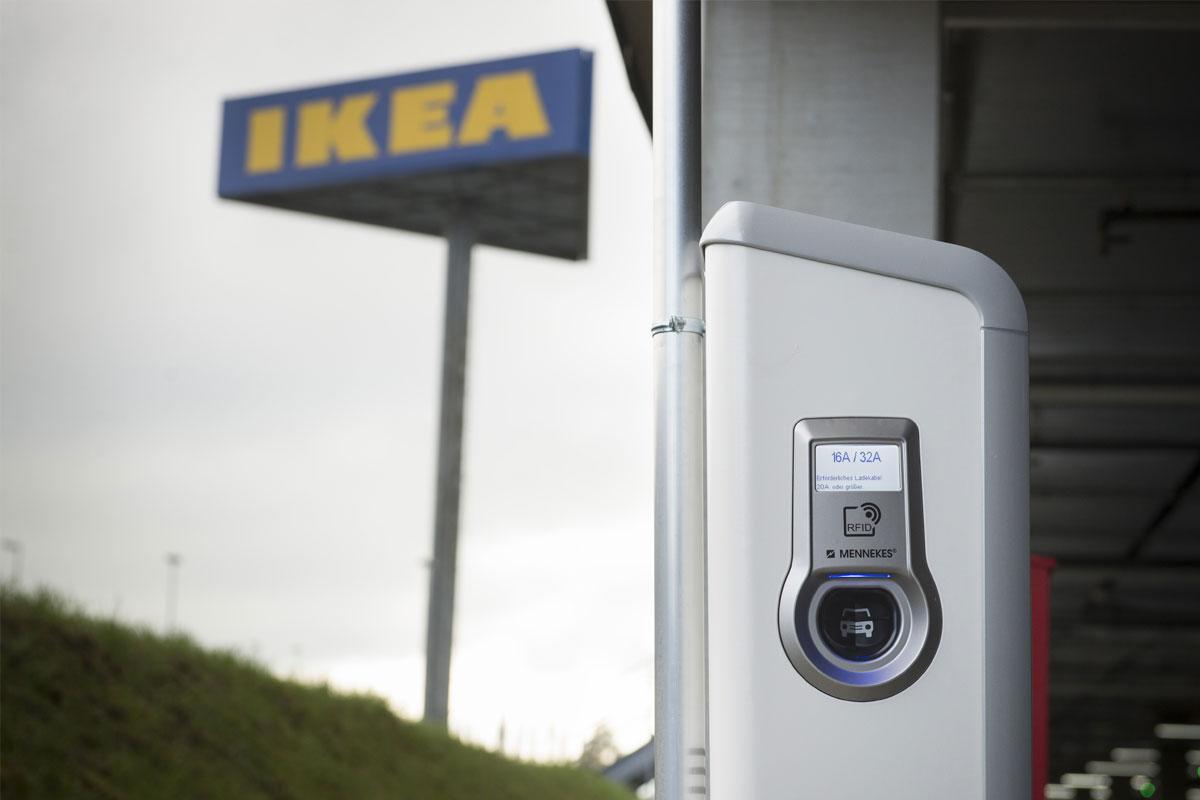 ikea schweiz setzt beim aufladen von elektroautos auf mennekes. Black Bedroom Furniture Sets. Home Design Ideas