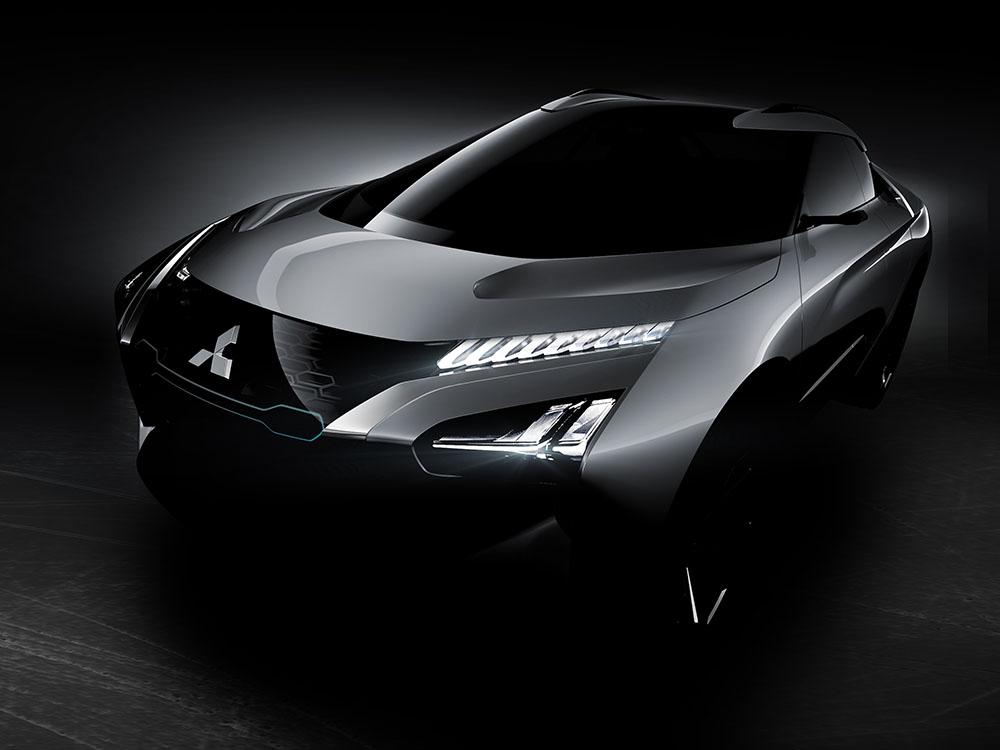 das elektroauto mitsubishi e-evolution concept verfügt über