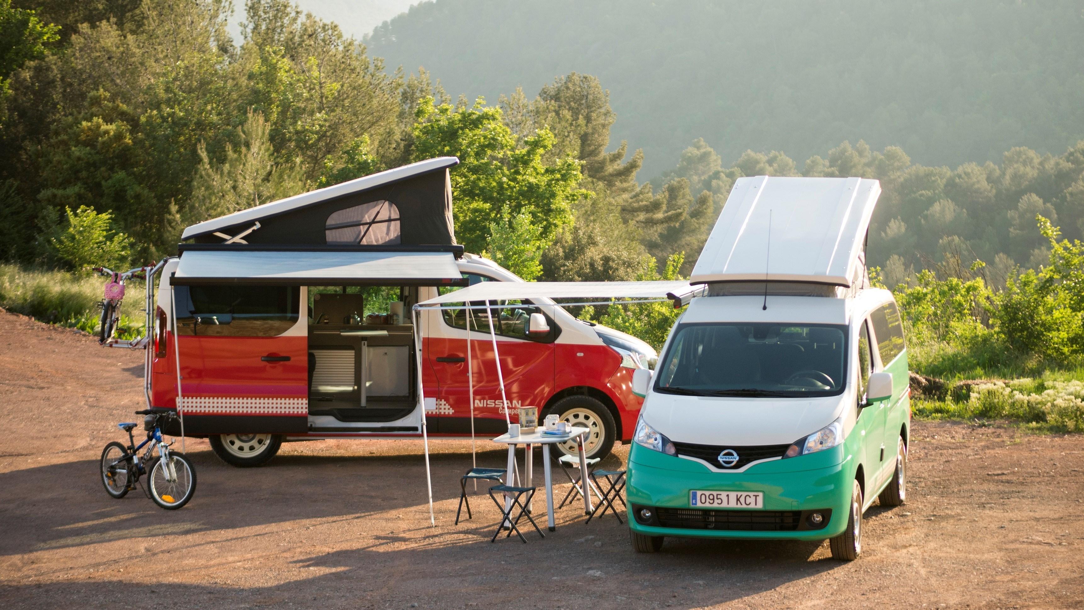 Das Elektroauto Nissan e-NV200 macht auch als Wohnwagen eine super ...