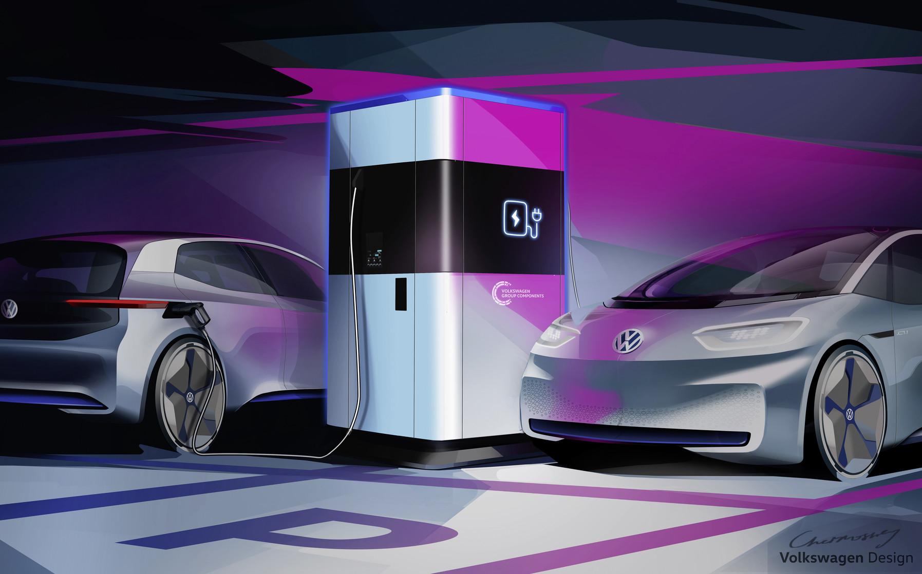 Volkswagen Stellt Erste Mobile Schnellladesäule Für Elektroautos Vor